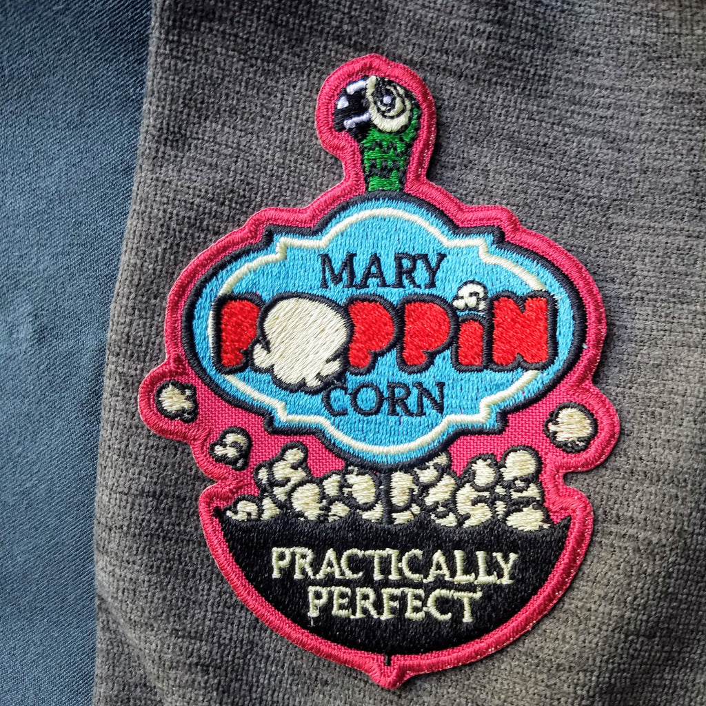 Disney's Mary Poppins Inspired Applique Patch - Mary Poppin' Corn - Obscure Disney