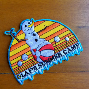 Disney's Frozen Inspired Applique Patch - Olaf's Summer Camp - Obscure Disney