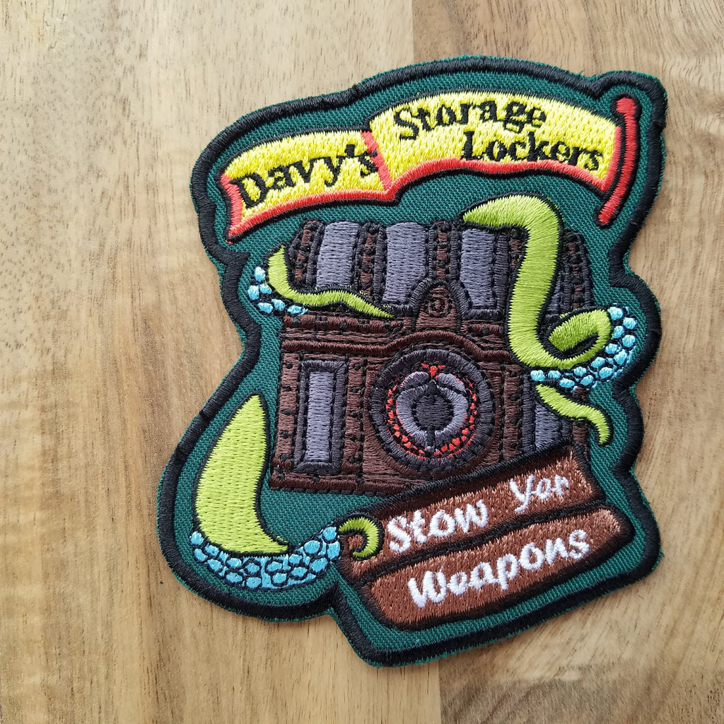"Pirates of the Caribbean inspired ""Davy's Storage Locker"" Iron-on Patch - Obscure Disney"