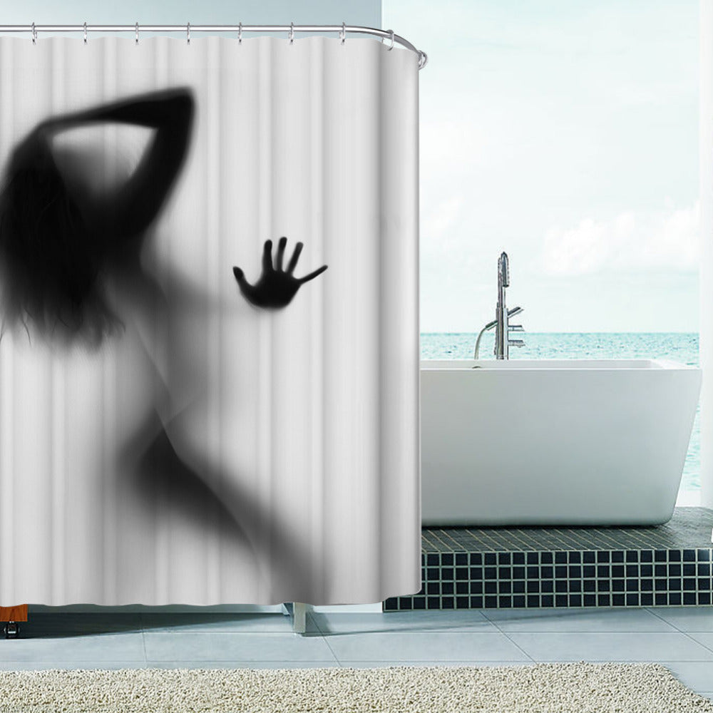 Girlfriend in the Shower Curtain