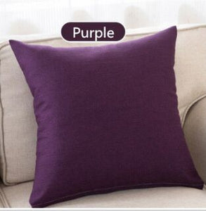 Linen Cushion Covers in Plain Colours