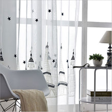 Scenic Embroidered Sheer Curtains