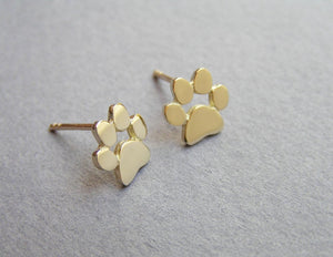 Paw Print Stud Earrings to Complete Every Outfit In Honour Of YOUR Faithful Friend.