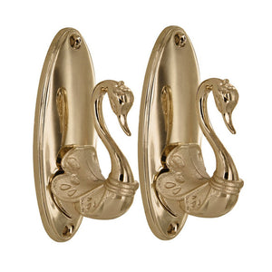 Pair of Vintage Swan Style Curtain Hooks