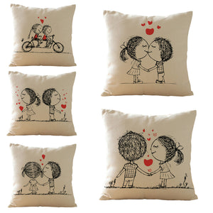 Cute Lovers Cushion Covers