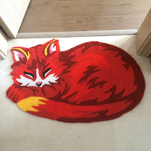 Handmade Fox Design Doormat