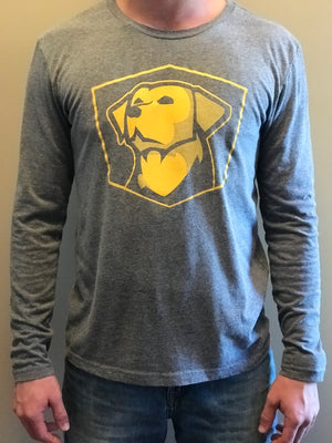 Grey Long Sleeve Logo Tee