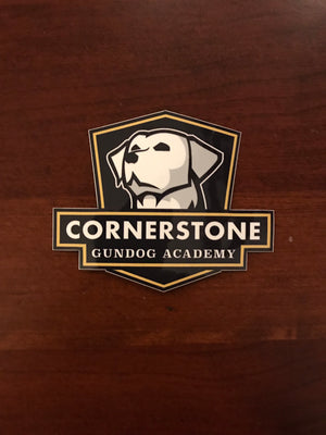 Small Cornerstone Gundog Academy Decal