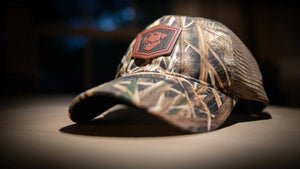 CGA Leather Patch Camo Baseball Style Cap