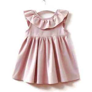 Toddler Girl Dusty Rose Ruffled Party Summer Dress – Little Isabelle 062af79a3c3f
