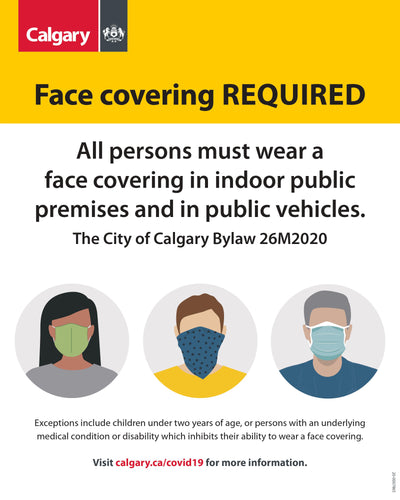City of Calgary Mandatory Mask Sign-Cut The Font