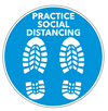 Social Distancing Floor Decal - Shoeprints-Cut The Font