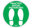 Social Distancing Floor Decal - Footprints-Cut The Font