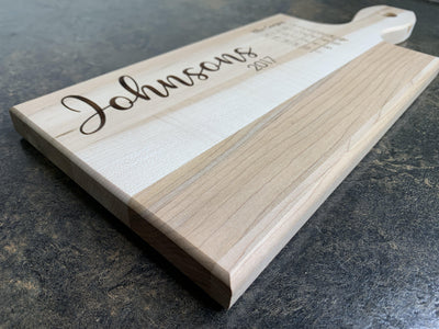 Last Name Personalized Cutting Board | Maple Cutting Board