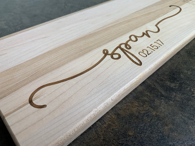 Name and Date Personalized Cutting Board | Maple Cutting Board
