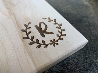 Initial Personalized Cutting Board | Maple Cutting Board-Cut The Font