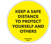 Social Distancing Floor Decal - Keep a Safe Distance-Cut The Font