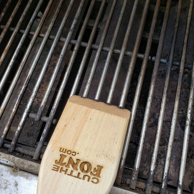 The Grillfather | Personalized laser engraved BBQ Scraper-Cut The Font