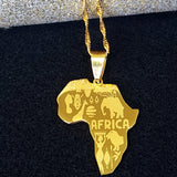 Africa Map Cultured Necklace - 1st Culture