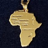 Africa Map Gold Color Necklace - 1st Culture