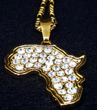 Africa Map Sparkle Necklace - 1st Culture