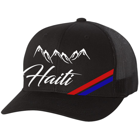 Haiti Mountains Trucker Hat Black - 1st Culture