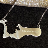 Cayman Islands Silver Map Necklace - 1st Culture
