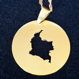 Colombia Circle Map Necklace - 1st Culture