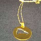 Dominican Circle Map Necklace - 1st Culture