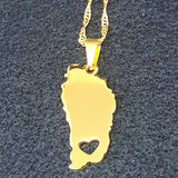 Dominica Map Charm Necklace - 1st Culture