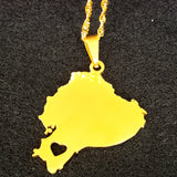 Ecuador Map Necklace - 1st Culture