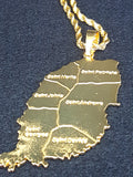 Grenada Gold Color Necklace (Large) - 1st Culture