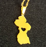 Guyana Map Necklace - 1st Culture