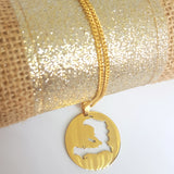 Haiti Map Circle Necklace - 1st Culture