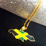 Jamaica Map Full Color Necklace - 1st Culture