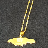 Jamaica Map Gold Plated Necklace - 1st Culture