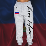 Love Haiti Sweatpants Light Gray - 1st Culture