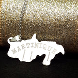 Martinique Map Silver Necklace - 1st Culture
