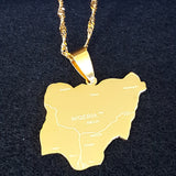 Nigeria Gold Map Necklace - 1st Culture