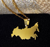 Russia Gold Map Necklace - 1st Culture