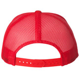 Haiti Mountains Trucker Hat Red - 1st Culture