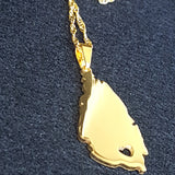 Saint Lucia Map Necklace - 1st Culture