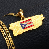 Puerto Rico Necklace - puerto rico - puerto rico pride - puerto rico jewelry - puerto rico pendant - puerto rico gifts - puerto rican