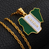 Nigeria necklace - nigerian flag - nigeria map - nigeria necklace men women - nigeria gold charm - nigeria pendant - nigeria jewelry