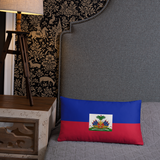 Haiti Flag Decorative Pillow - 1st Culture