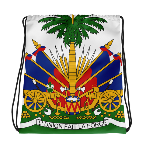Haiti Emblem Drawstring bag - 1st Culture