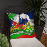 Haiti Emblem Decorative Pillow Old - 1st Culture