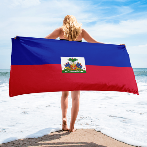 Haiti Flag Beach Towel - 1st Culture