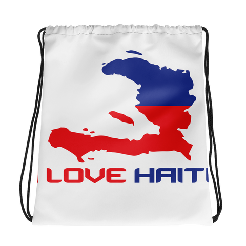 I Love Haiti Drawstring bag - 1st Culture