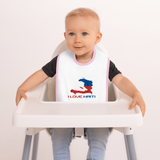 Embroidered I Love Haiti Baby Bib - 1st Culture